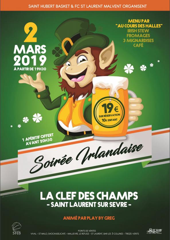 Soirée Irlandaise FCSLMV - SHB - 2 Mars 2019