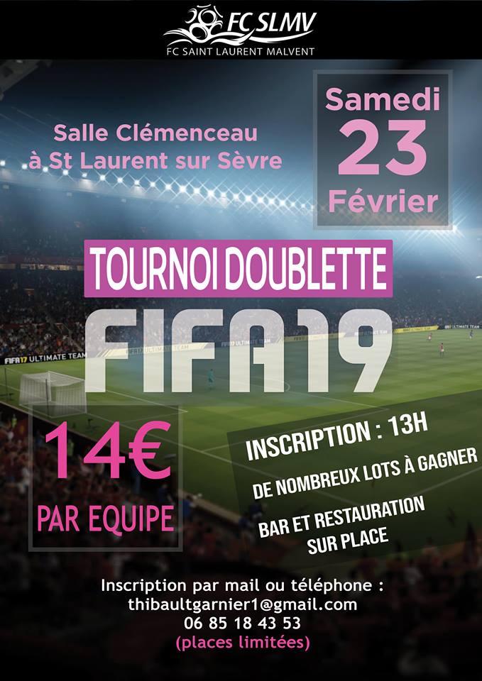 Tournoi FIFA 19 jeux vidéos 23 février 2019