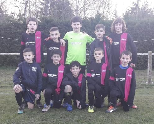 équipe de football u11 fc saint laurent malvent